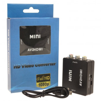 Адаптер Mini AV/HDMI 1080p Converter to 3 rca (black)