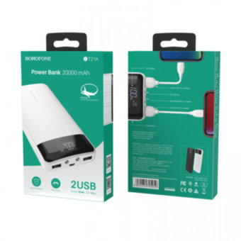 Внешний АКБ BOROFONE BT21A Universal Energy Mobile Power Bank (20000 mAh)